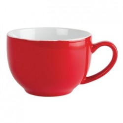 Olympia Cafe Cappuccino Cups Red 340ml 12oz