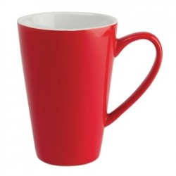 Olympia Cafe Latte Cups Red 454ml 16oz