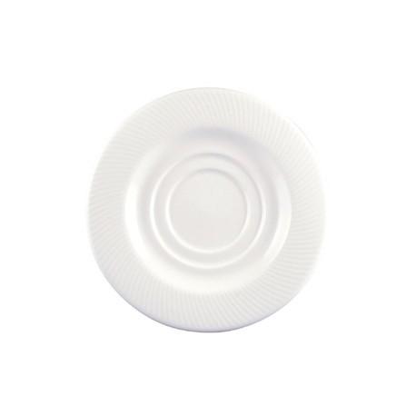 Dudson Twist Tea Saucer White 160mm
