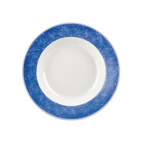 Churchill New Horizons Marble Border Pasta Plates Blue 300mm