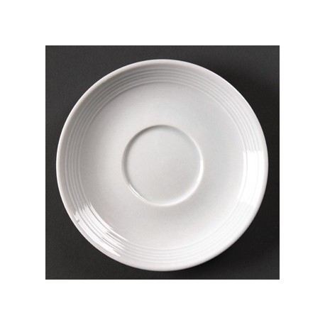 Olympia Linear Stacking Tea Cup Saucers