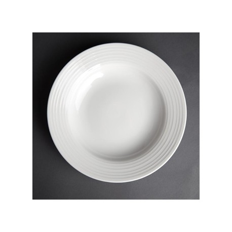 Olympia Linear Pasta Plates 230mm