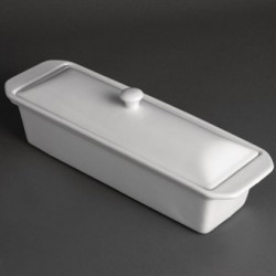 Olympia Whiteware Pate Terrine 110mm