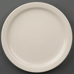 Olympia Ivory Narrow Rimmed Plates 230mm
