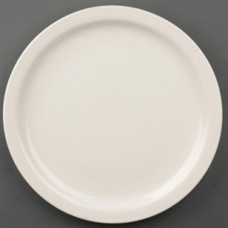 Olympia Ivory Narrow Rimmed Plates 255mm
