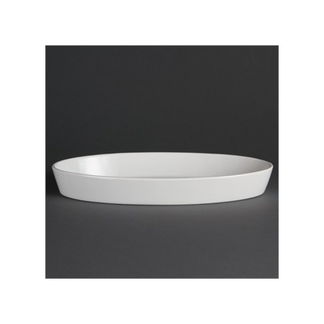 Olympia Whiteware Oval Sole Dishes 330x 180mm