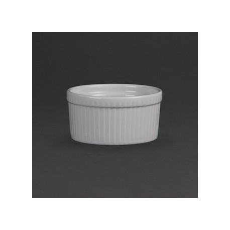 Olympia Whiteware Souffle Dishes 105mm