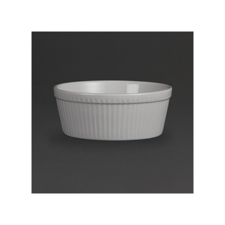 Olympia Whiteware Souffle Dishes 128mm