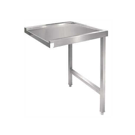 Vogue Pass Through Dishwash Table Right 1100mm