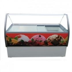 Crystal Venus Elegante 10 Pan Ice Cream Display Counter VenusEle46