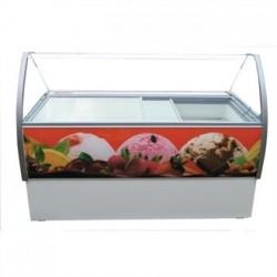 Crystal Venus Elegante 13 Pan Ice Cream Display Counter VenusEle56