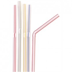 Fiesta Striped Flexible Straws