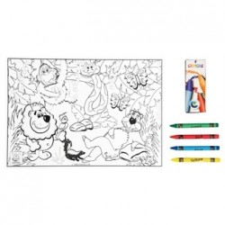 Jungle Lion Colour-in Sheet & Crayons