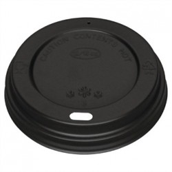 Fiesta Black Lid for Coffee Cups 12-16oz 50 Pack