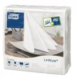 Tork Linstyle Dinner Napkin White 400mm