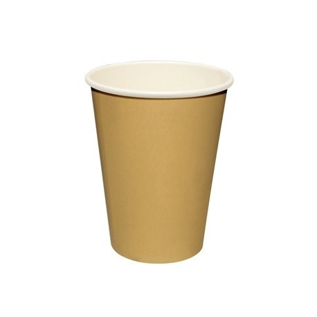 Fiesta Disposable Hot Cups Brown 8oz x1000