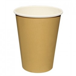 Fiesta Disposable Hot Cups Brown 8oz x50