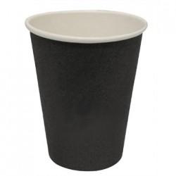 Fiesta Disposable Hot Cups Black 8oz x50