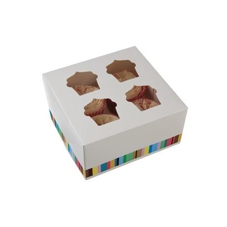 Four Cupcake Box