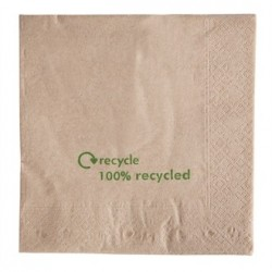 Kraft Lunch Napkins Recycled 330 x 330mm