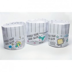 Bizzi Paper Kids Chefs Hats