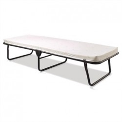 Jay-Be Contract Folding Bed with Airflow Fibre Mattress Single in Black Colour