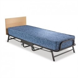Jay-Be Contract Folding Bed with Water Resistant Mattress Single in Black Colour