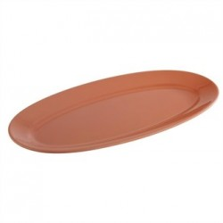 APS Tierra Terracotta Effect Oval Platter 400mm