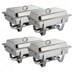 Milan Chafing Set Four Pack
