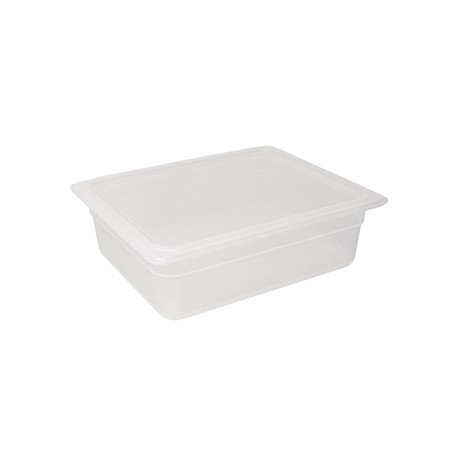 Vogue Polypropylene 1/2 Gastronorm Container with Lid 100mm