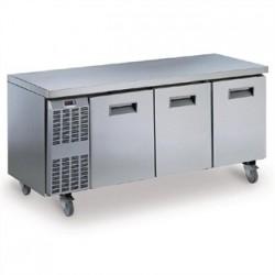 Electrolux Benefit Line Refrigeration Counter 3 Door 415Ltr St/St Castors RCSN3M3UK