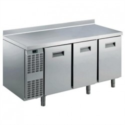 Electrolux Benefit Line refrigeration Counter 3 Door 415Ltr St/St with Upstand RCSN3M3U