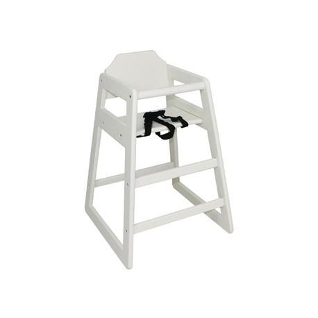 Bolero Wooden High Chair Antique White Finish