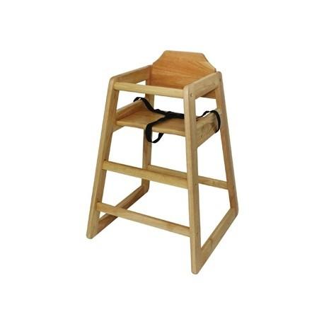 Bolero Wooden High Chair Natural Finish