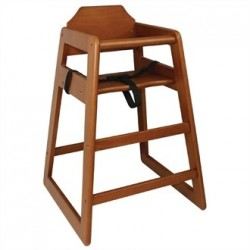 Bolero Wooden High Chair Dark Wood Finish