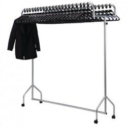 Twin Top Steel Garment Rail