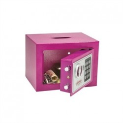 Phoenix Pink Compact Office Safe