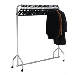 Metal Garment Rail with Hangers