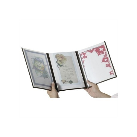 Securit Crystal Menu Holder A4 Triple