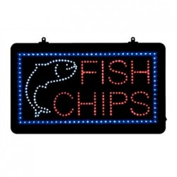 LED Fish and Chips Display Sign