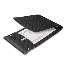 DAG Bonded Leather Bill Presenter Black Crocodile Skin
