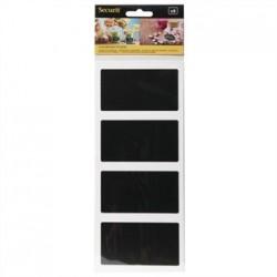 Securit Self Adhesive Chalkboard Rectangular 85 x 50