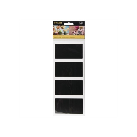 Securit Self Adhesive Chalkboard Rectangular 85 x 50