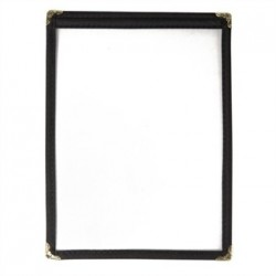 American Style Menu Holder Two Card Black A5