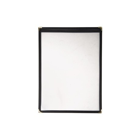 American Style Menu Holder Two Card Black A4
