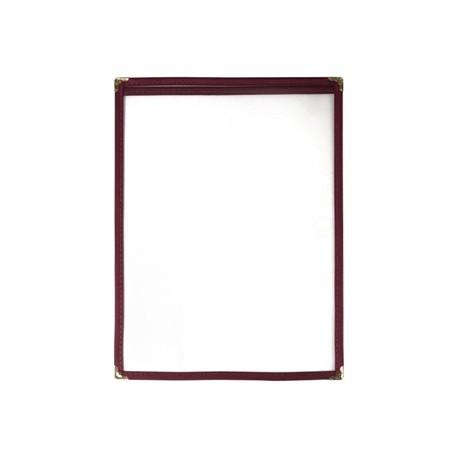 American Style Menu Holder Two Card Burgundy A4
