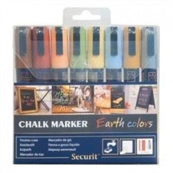 Securit Earth Chalk Pens 2 x 6mm