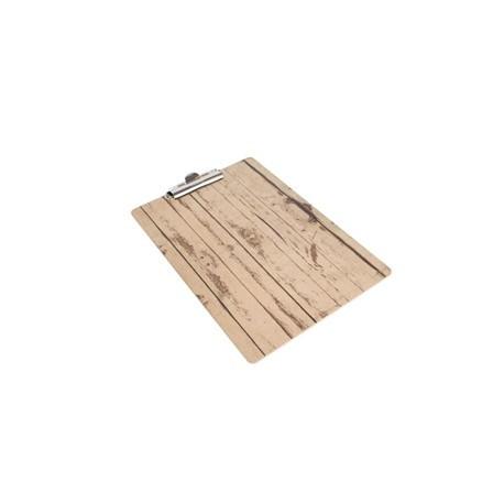 Wood Effect A4 Menu Presentation Clipboard