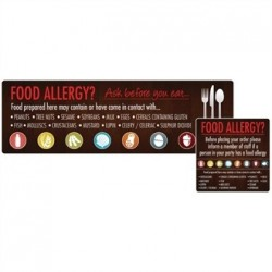 Food Allergen Window and Wall Stickers