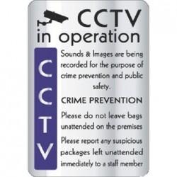 CCTV In Operation Crime Prevention Sign